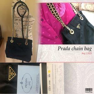 ❗️SALE❗️Authentic - Prada Gold Chain bag .